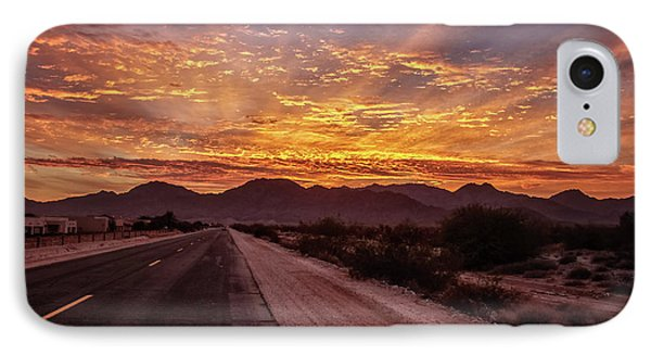 Highway View IPhone Case by Robert Bales