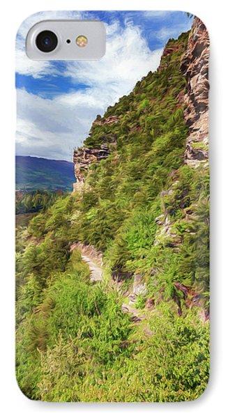 Hike Up Mt Iron Wanaka New Zealand IPhone Case by Joan Carroll