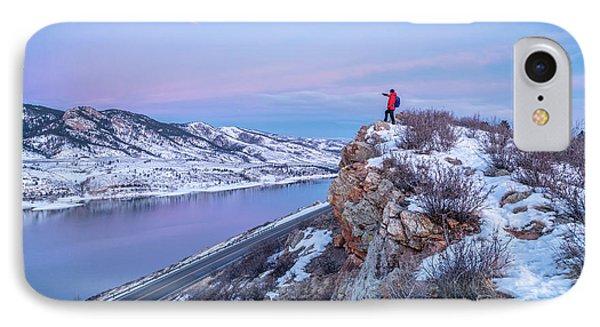 hiking Colorado before sunrise IPhone Case by Marek Uliasz