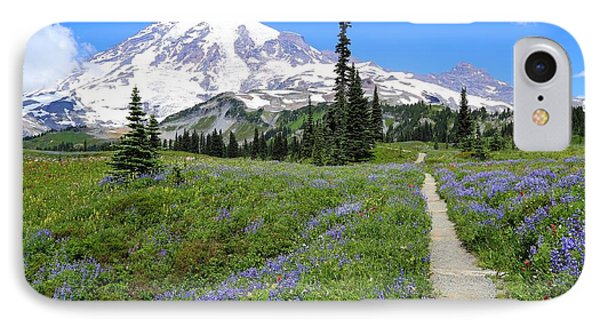Hiking In The Wildflowers IPhone Case