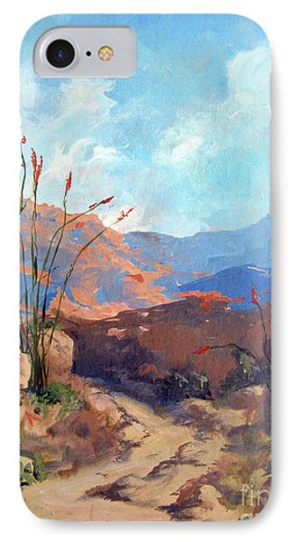 Hiking The Santa Rosa Mountains IPhone Case by Maria Hunt