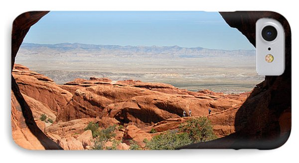 Hiking Through Arches Phone Case by David Lee Thompson