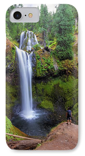 Hiking To Falls Creek Falls Phone Case by David Gn
