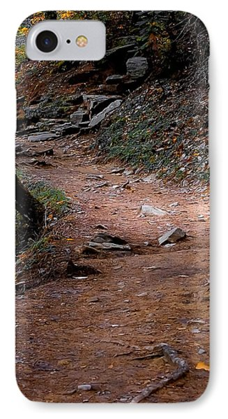 Hiking Trail To Abrams Falls Phone Case by DigiArt Diaries by Vicky B Fuller