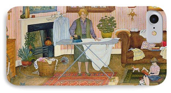 Hilda Nekudas Ironing Day IPhone Case by Ditz