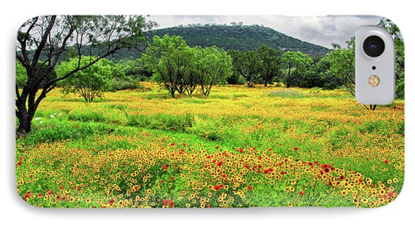 Hill Country Wildflowers IPhone Case