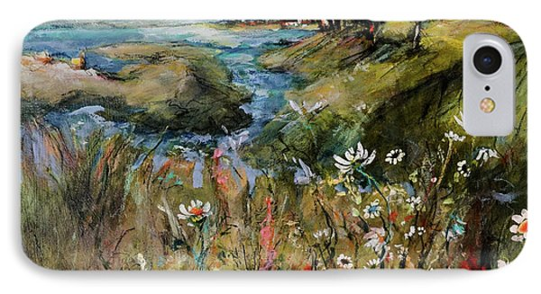 Hill Top Wildflowers IPhone Case by Sharon Furner