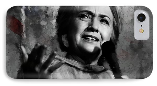 Hillary Clinton  IPhone Case by Gull G