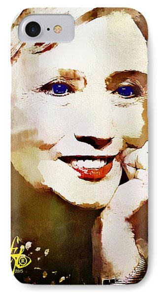 Hillary Clinton IPhone Case by Lynda Payton
