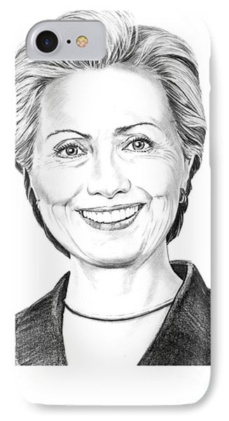 Hillary Clinton Phone Case by Murphy Elliott