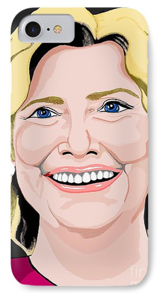 Hillary Clinton IPhone Case by Richard Heyman
