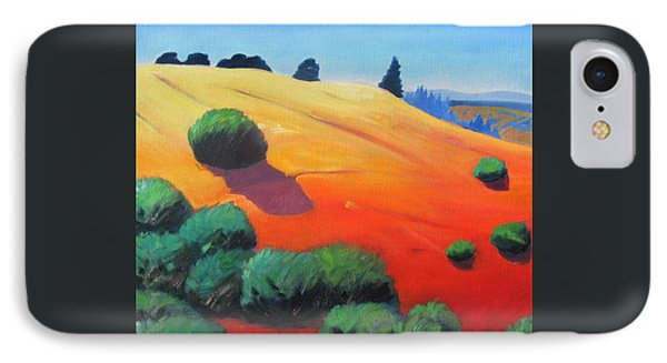 IPhone Case featuring the painting Hills And Beyond by Gary Coleman