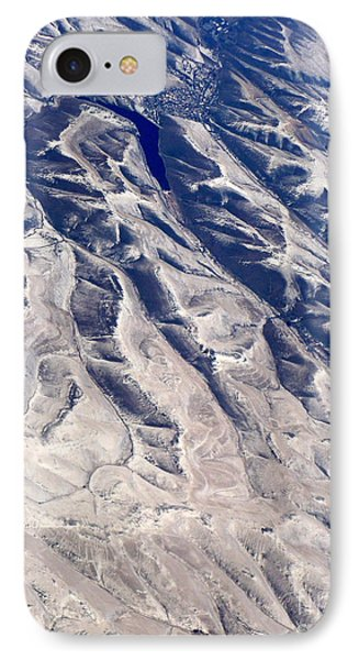Hills And Valleys Aerial Phone Case by Carol Groenen