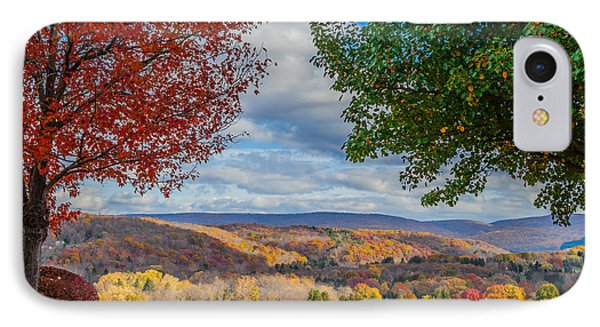 Hills Of Autumn IPhone Case by April Reppucci