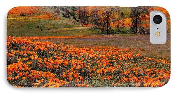 Hills Of Orange Near Antelope Valley Poppy Preserve In California IPhone Case by Jetson Nguyen