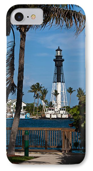 Hillsboro Inlet Lighthouse And Park IPhone Case by Ed Gleichman