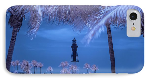 IPhone Case featuring the photograph Hillsboro Inlet Lighthouse Infrared by Louis Ferreira