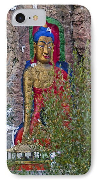 Hillside Buddha IPhone Case by Alan Toepfer