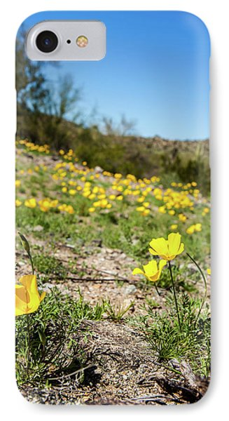 IPhone Case featuring the photograph Hillside Flowers by Ed Cilley