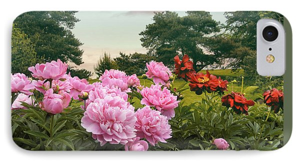 Hillside Peonies IPhone Case by Jessica Jenney