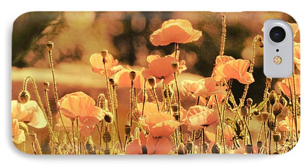 IPhone Case featuring the painting Hillside Poppies And Sunset by Douglas MooreZart