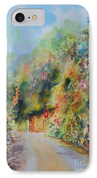 IPhone Case featuring the painting Hillside Street Hythe Kent by Beatrice Cloake