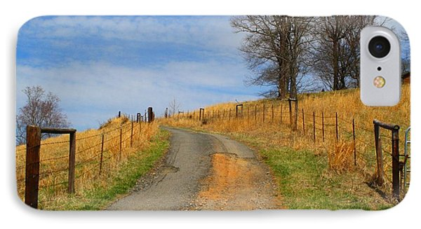 Hilltop Driveway IPhone Case by Kathryn Meyer