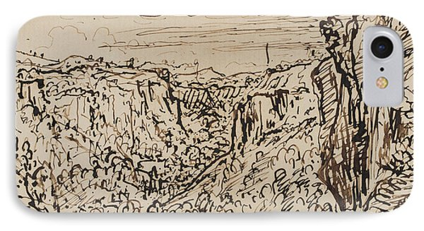 Hilly Landscape IPhone Case by Theodore Roussel