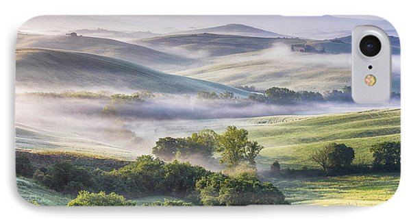 Hilly Tuscany Valley At Morning Phone Case by Evgeni Dinev