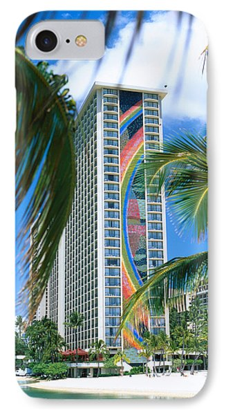 Hilton Rainbow Tower IPhone Case by Vince Cavataio - Printscapes