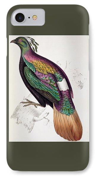 Himalayan Monal Pheasant IPhone 7 Case by John Gould