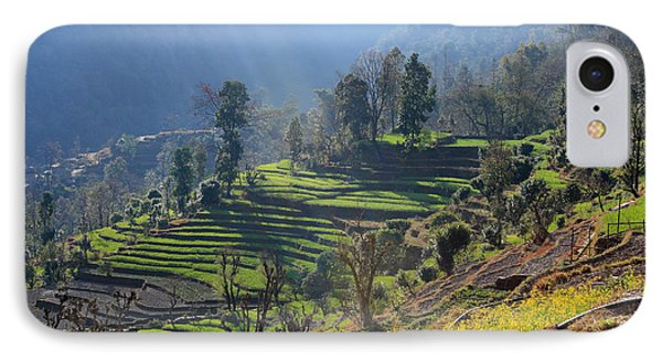 Himalayan Stepped Fields - Nepal IPhone Case by Aidan Moran