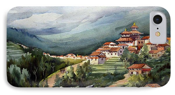 Himalayan Village  IPhone Case by Samiran Sarkar