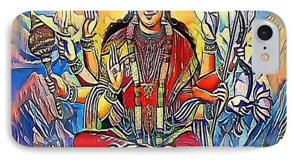 Hindu Godess Kali - My Www Vikinek-art.com IPhone Case by Viktor Lebeda