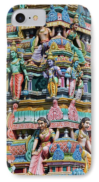 Hindu Temple Gopuram IPhone Case by Tim Gainey