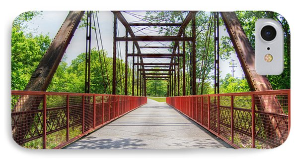 Hinkson Creek Bridge IPhone Case by Cricket Hackmann