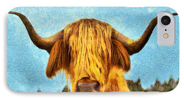 Hippie Cow - Pa IPhone Case by Leonardo Digenio