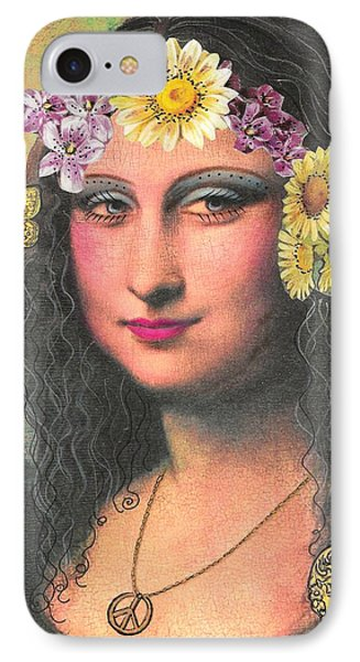 Hippie Gioconda IPhone Case by Graciela Bello