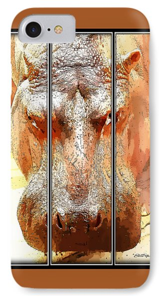 Hippo Cartoon Phone Case by Ericamaxine Price