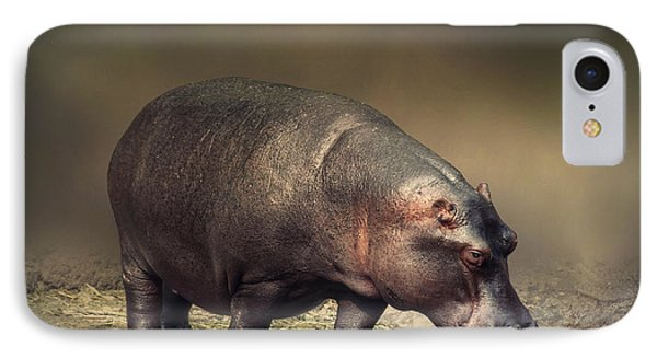 IPhone Case featuring the photograph Hippo by Charuhas Images