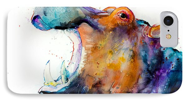 Hippo IPhone Case by Slavi Aladjova