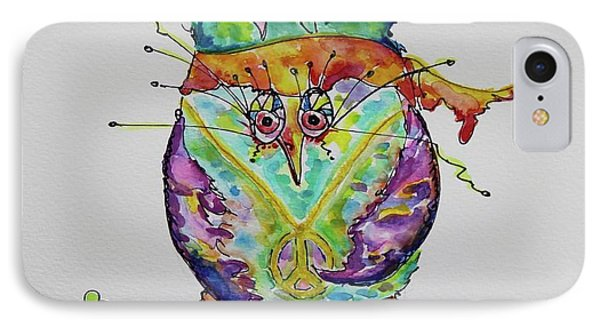 Hippy Owl- Vertical Format IPhone Case