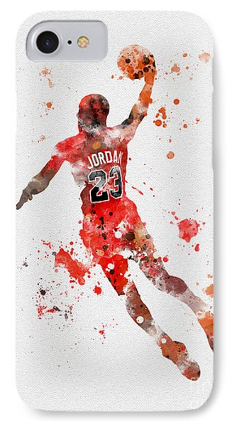 His Airness IPhone 7 Case by Rebecca Jenkins