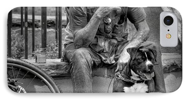 His Best Friend II Phone Case by David Patterson