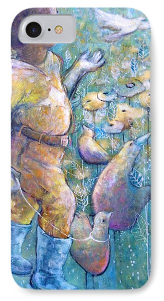 IPhone Case featuring the painting His Dream by Eleatta Diver