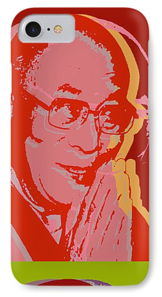 His Holiness The Dalai Lama Of Tibet IPhone Case by Jean luc Comperat