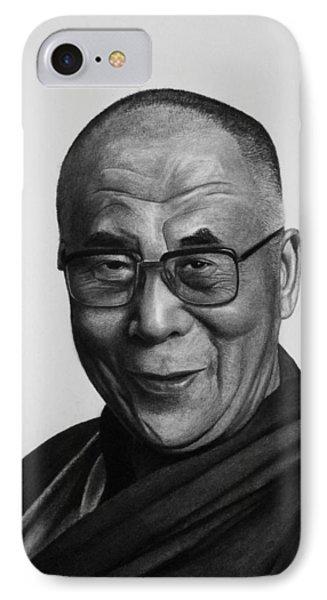 His Holiness The Dalai Lama Phone Case by Vishvesh Tadsare