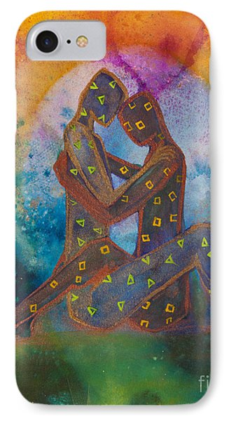 His Loves Embrace Divine Love Series No. 1007 IPhone Case