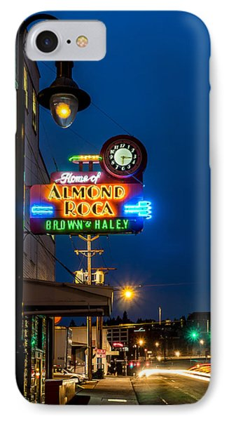 Historic Almond Roca Co. During Blue Hour IPhone Case
