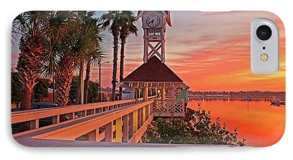 Historic Bridge Street Pier Sunrise IPhone Case